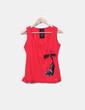 T-shirt rouge imprimé cat Lolitas