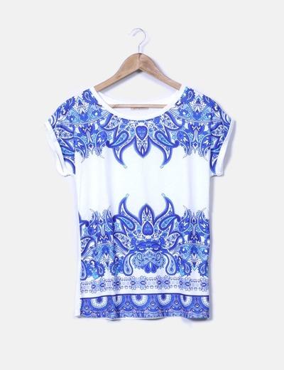 FangHua T-shirt multi-couleurs imprimé cachemire deux (réduction 86 ... 6e8134337c63