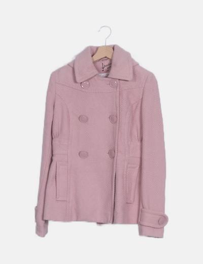 Trenca rosa capucha manga larga