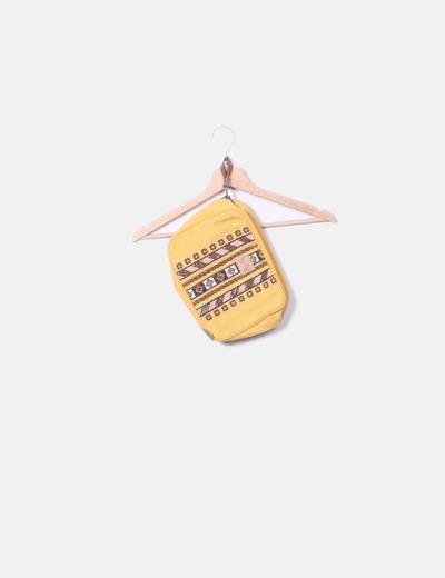 Bolso de mano amarillo étnico