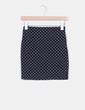 Mini falda negra ajustada cruces  Pull & Bear