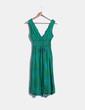 Vestido escote pico  en tonos verdes  Desigual