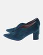 Zapato de tacón verde Luisa Toledo
