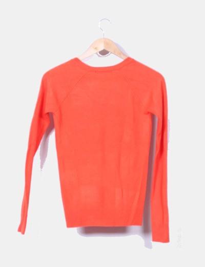 Jersey naranja escote pico