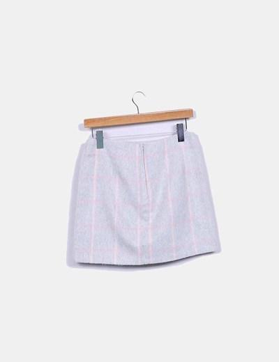 Minifalda pano gris cuadros