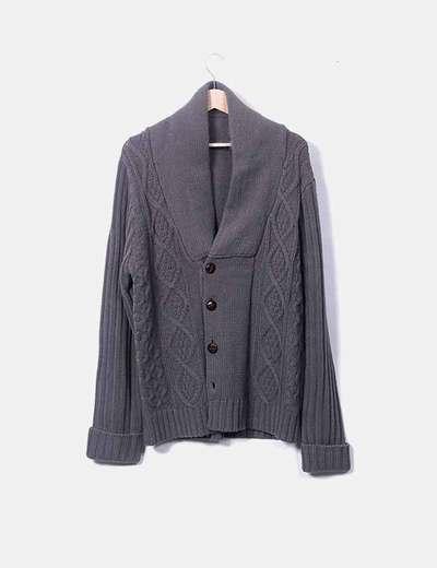 Cardigan tricot gris