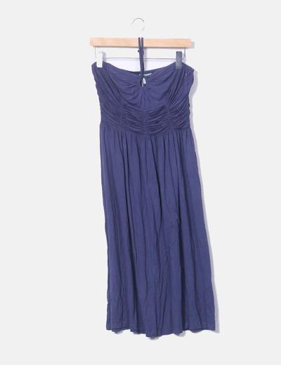 Vestido azul marino palabra de honor Hoss Intropia