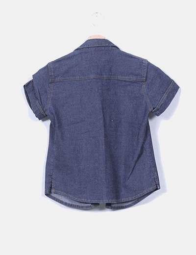 Camisa vaquera de manga corta