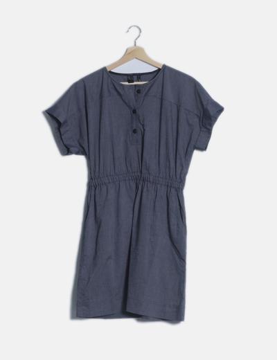 Vestido azul raya