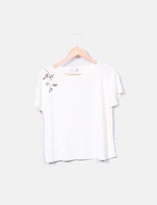 95d8ff6e92f Camiseta beige con strass Guy Laroche