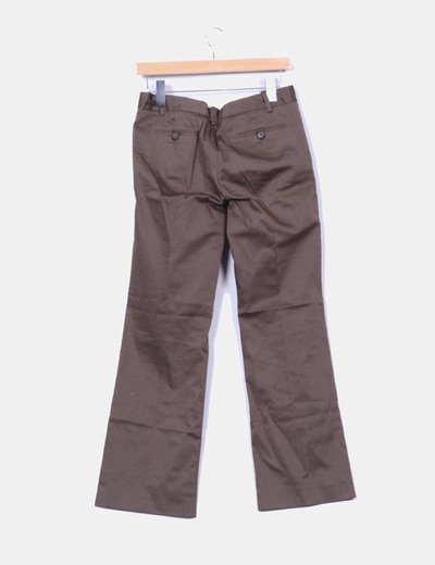 Pantalones chinos khaki recto