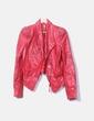 Cazadora biker cuero rojo con tachas Imperial