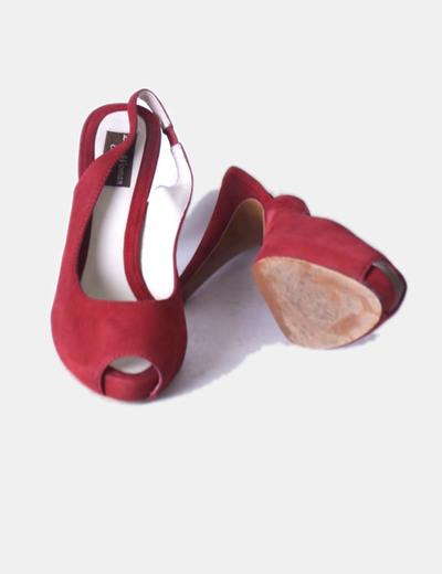 Sandalia peep toe granate