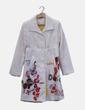 Abrigo largo texturizado blanco Desigual