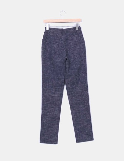 Pantalon capri gris marengo jaspeado