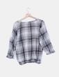 Camisa gris de cuadros Promod