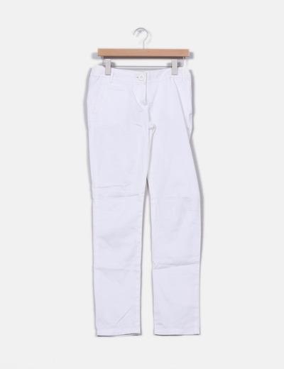 Pantalón chino blanco Mango