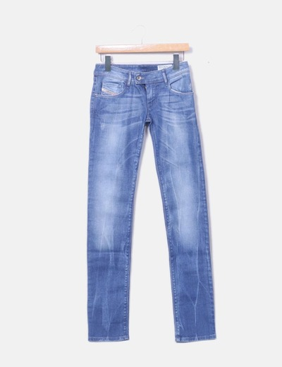 Jeans denim azul claro regular Diesel
