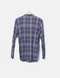 Camisa larga de cuadros marrón y azul NoName