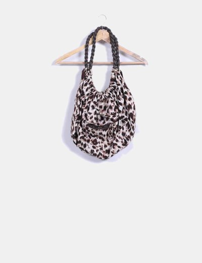 Bolso shoulder con estampado de leopardo Suiteblanco