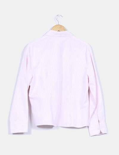 Camisa a rayas rosa y blanca