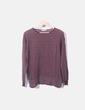 Jersey tricot fino burdeos raya gris Pull&Bear
