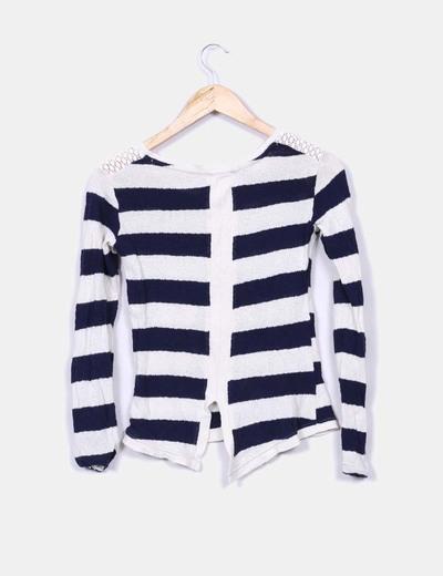 Jersey tricot rayas azules
