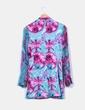 Kimono turquoise de soie imprimé floral Custo Barcelona