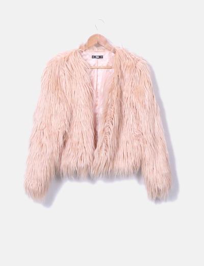 Cappotto lungo pelliccia rosa SheIn