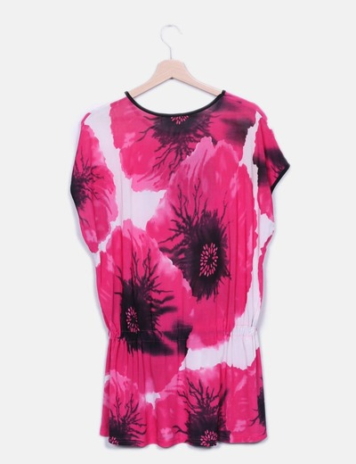 Camiseta floral de licra