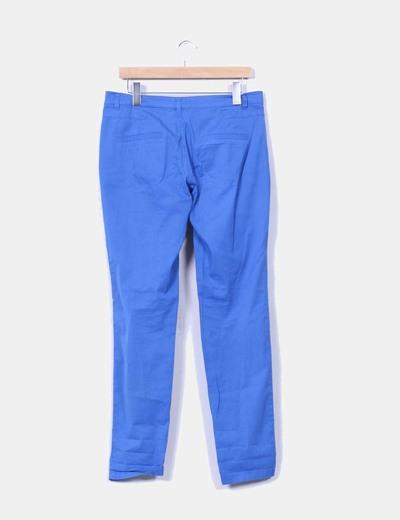 Pantalon chino azul