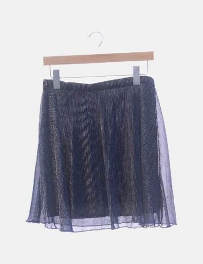 Falda negra con glitter