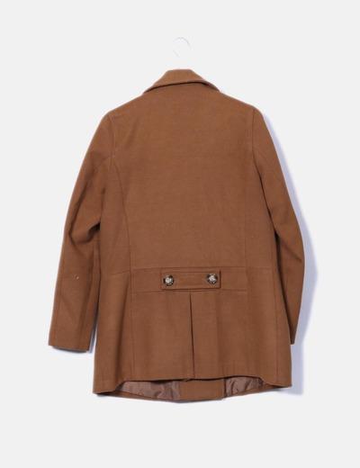 Abrigo pano marron doble botonadura