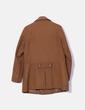 Abrigo paño marrón doble botonadura Springfield