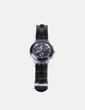 Schwarze Metalluhr kombiniert Swatch