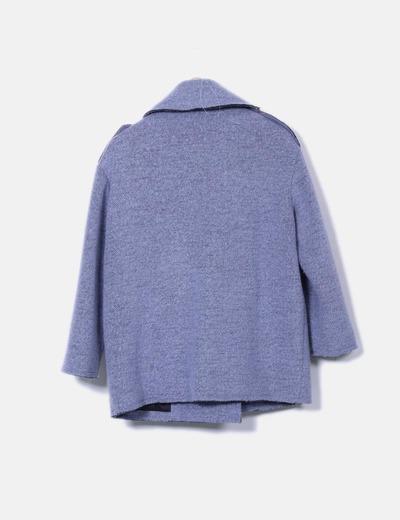 Abrigo azul doble botonadura