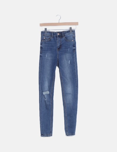 Jeans denim high waist
