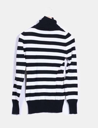 3e197b81e7ae Stradivarius Jersey tricot rayas blanco y negro (descuento 82 %) - Micolet