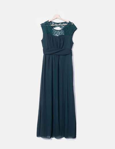 Maxi green dress bottle combined NoName