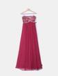 Maxi vestido budeos palabra de honor con abalorios De Laru Collection