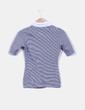 Camiseta rayas con solapas blancas Adolfo Dominguez