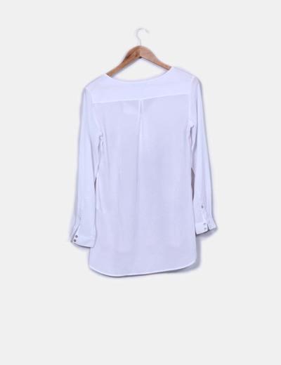 Blusa blanca print arboles