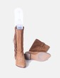 Bota serraje con flecos marrón Pull&Bear