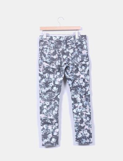 Pantalon print floral