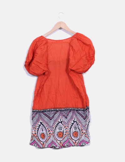 Color Vestido Naranja Naranja Étnico Vestido Étnico Color srhQCxtd