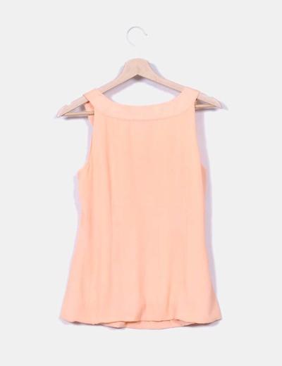 Camiseta con rosas naranja