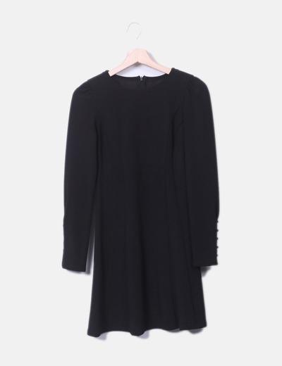NoName Schwarzes Kleid mit langen Ärmeln (Rabatt 74 %) - Micolet b1a5b1ba4b