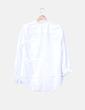 Camisa blanca franja naranja Uterqüe