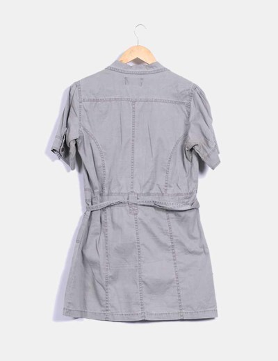 Vestido denim gris