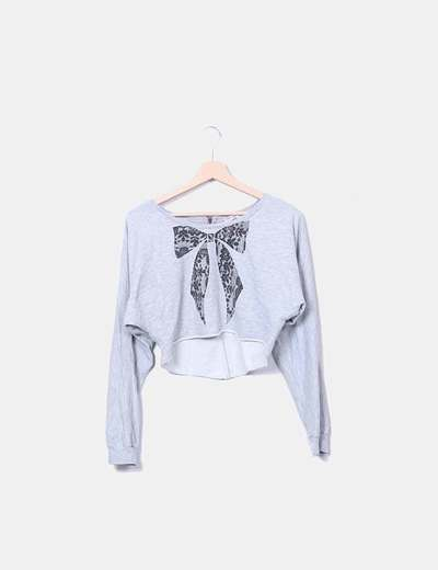 Sweatshirt with print bow Primark